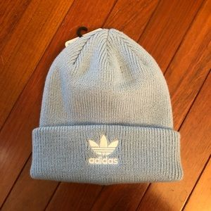NWT adidas Knit Beanie Hat light blue